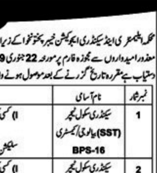 NTS JOBS 2019 FOR ONLY DISABLED PERSONS (Teachers, CT, DM, PET, TT