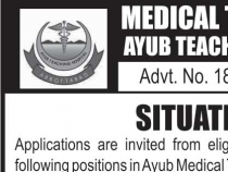 NTS 100 JOBS FOR CHARGE NURSE IN Ayub Teaching Hospital, Abbottabad NTS JOBS 2019 APPLY HERE