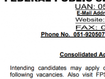 FPSC 1117 JOBS 2019 BS 16 – 20 FPSC JOBS 2019 APPLY HERE