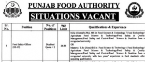 NTS JOBS 2019 FOR DISABLED PERSONS IN Punjab Food Authority