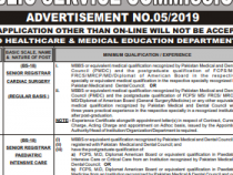 PPSC 100+ JOBS 2019 BS- 16, 17, 18 PPSC JOBS 2019 APPLY HERE