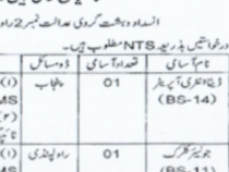 NTS JOBS 2019 Data Entry Operator, Junior Clerk BS 11, 14 NTS JOBS 2019 APPLY HERE
